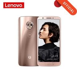 Moto g6 smartphone 2160*1080 5.7 Polegada telefone móvel 4 gb 64 gb frente 16mp octa núcleo celular corpo de vidro 3000 mah suporte microsd
