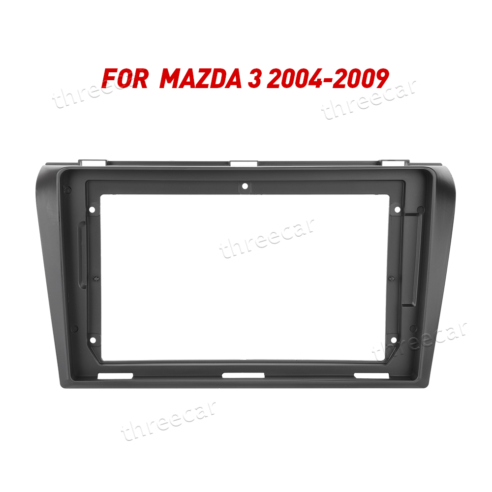 2Din Car <font><b>Radio</b></font> Fascia Frame Fit for Mazda 3 2004-2009 maxx axela Android GPS Panel Dash Frame Kit Mounting Frame Trim Fascial image