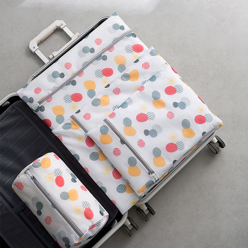 New Polyester Packing Cube Bags Women Travel Luggage Dirty Clothes Wash Directly Pouch Organizer Bag