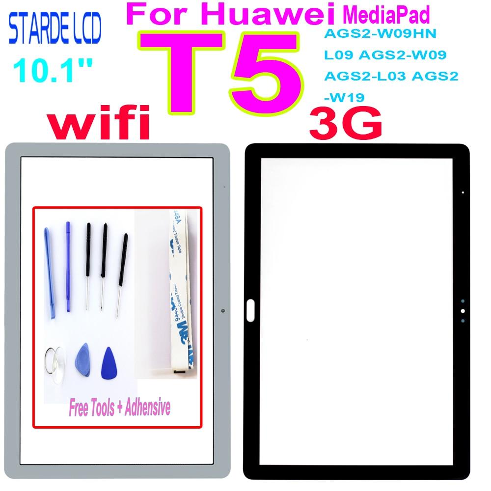 Новинка для Huawei MediaPad T5 запасное Переднее стекло сенсорного экрана с внешняя стеклянная панель объектива сенсорного экрана Замена AGS2-W09HN L09 ...