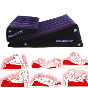 Wedge Pillow Cushion For Couples Position Adult Toy Women Couple Furniture Portable Ramp Support Triangle Position Sex Furniture
