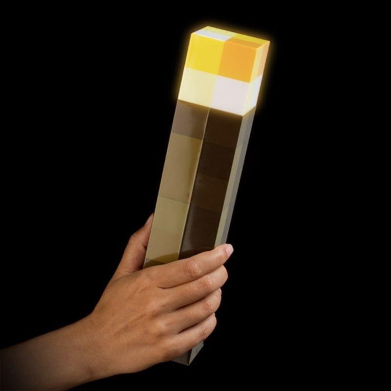 Luz Minecrafts antorcha LED noche de la pared luz luminosa juguetes de diseño de juego juguetes linterna de mano y montaje en pared casa Decoración