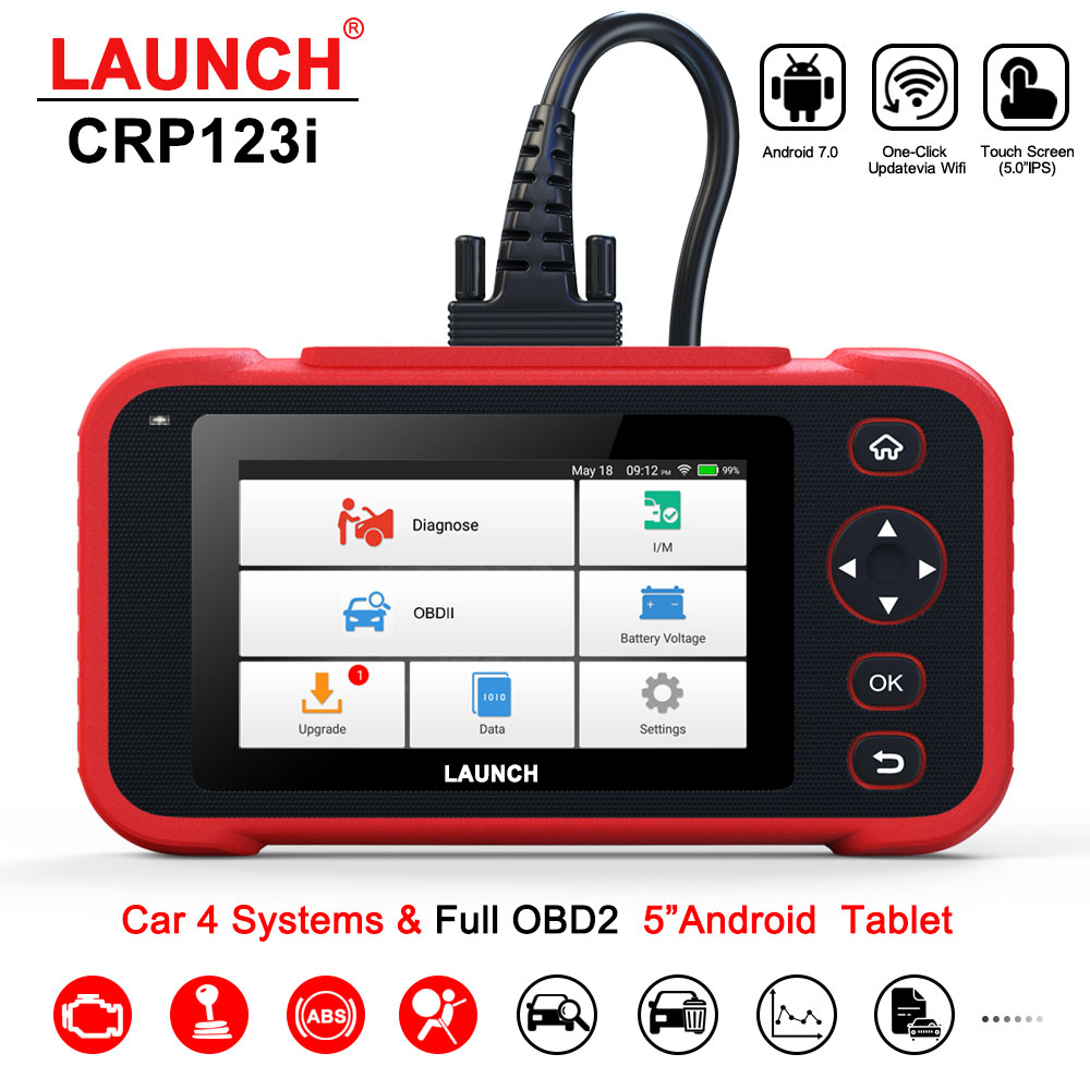 LAUNCH X431 CRP123i OBD OBD2 Coder Reader Scanner 4 System Diagnostic OBD 2 Auto Scanner Car Diagnostic Tool vs CRP123X CRP123E