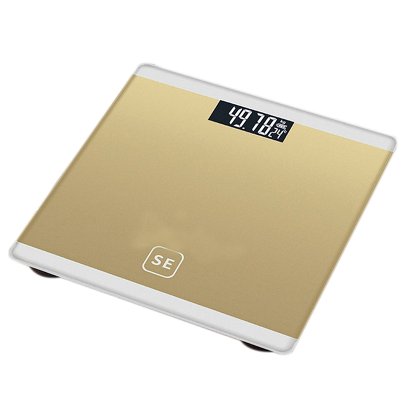 Gold Digital Body Axunge Electronic Scale LCD Display Human Health Management Called Smart Balance Electronic Scale
