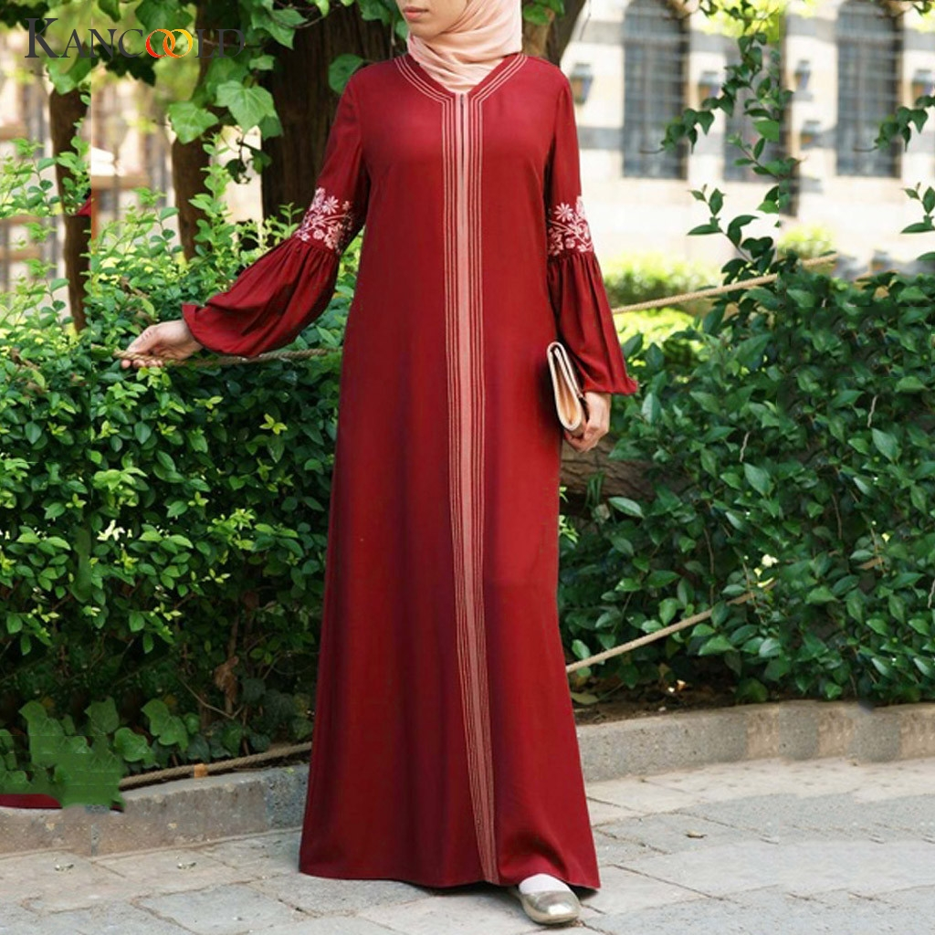KANCOOLD Dubai Abaya Turkish Bangladesh Woman Abaya Jilbab Femme Muslim Dress Islamic Clothes Caftan Marocain Kaftan