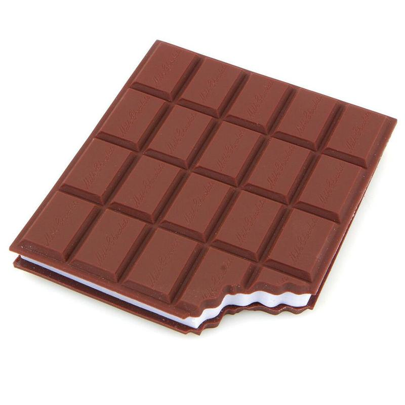 1piece Chocolate Note Pad Sticky Convenient Stationery Notebook Diy Cover Notepad School Office Supplies Stationery Gift