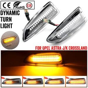 Image 2 - 2PCS Dynamic LED Side Marker Lights 12V Flowing Turn Signal Light Side Repeater Lamp Panel Lamp for Opel for Vauxhall Astra J K