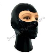 Латексные костюмы Маска на капюшон маска для косплея без молнии сзади открытие глаз