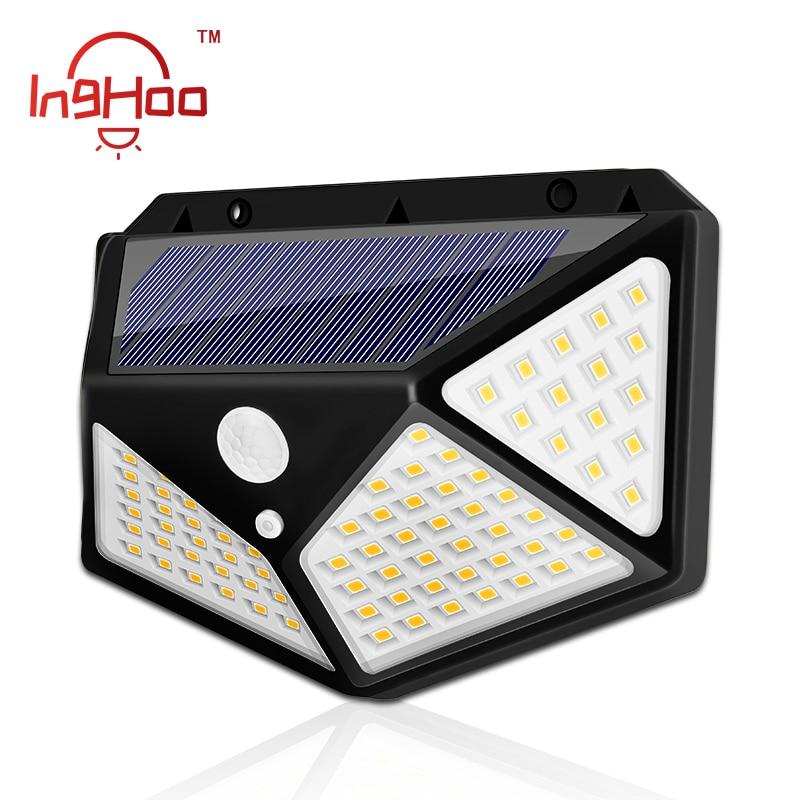 IngHoo Outdoor Solar Light Motion Sensor Wall Lamp Energy Saving Solar Lamp Lighting For Front Door Yard Garden Garage Hallway