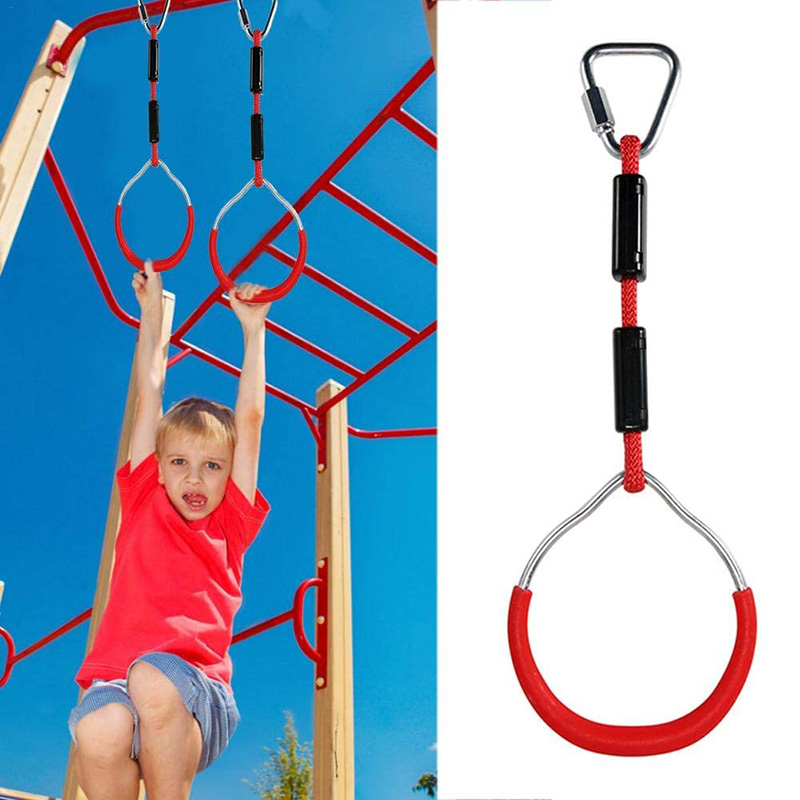 Swing Bar Rings Gymnastic Ring Climbing Hanging Rings Swings Accessories Children Climbing Equipment Playground For Kids Outdoor
