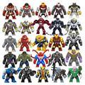 Экшн-фигурка Мстители Халк танос Железный человек Веном Росомаха Супергерои строительные блоки Фигурки игрушки для детей Подарки