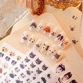 Новое поступление, 3D наклейки для ногтей, красочные наклейки с милым котом и собакой, наклейки для дизайна ногтей, украшения Z0361