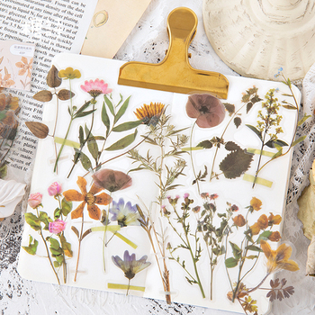 40 Pcs/set Vintage Stickers Fall Flowers Bullet Journal Decorative Sticker Diary Stationery Album Sticker Flakes Scrapbooking 1