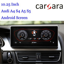 10.25 Au Di Autoradio Android Display Voor A4 S4 RS4 A5 S5 RS5 8K 8T 8R Smart Cockpit touch Screen MP4 MP5 Multimedia Dvd-speler(China)