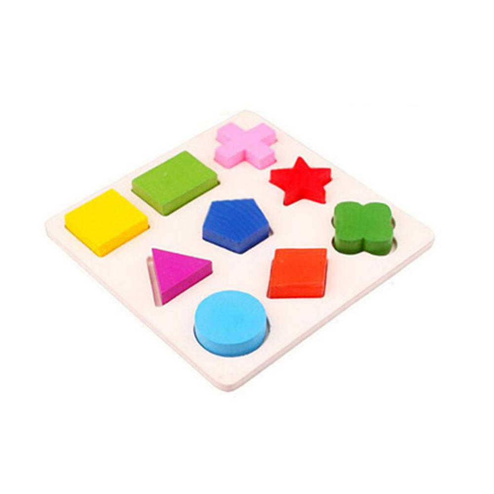 None Wooden Geometrical Shape Blocks 3D Puzzle Toy For Kid