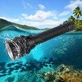 Фонарик BORUiT 5 * XM-L2  светодиодный  мощный  8000 лм  подводный  100 м  портативный  18650