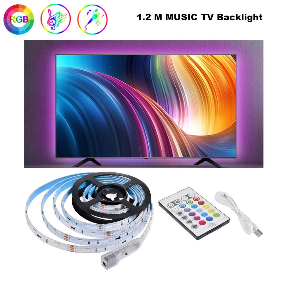 RGB LED Strip Lights Waterproof Changing Light Kits with 24 Button Remote Controller for Bedroom TV Background Kitchen Desk