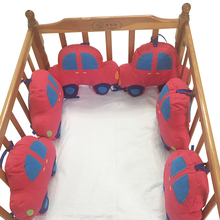 High Quality Baby Bumper Bed Cartoon Car Pillow Cushion Bumper for Infant Baby Crib Protector Cot Bumper Room Decor For Children
