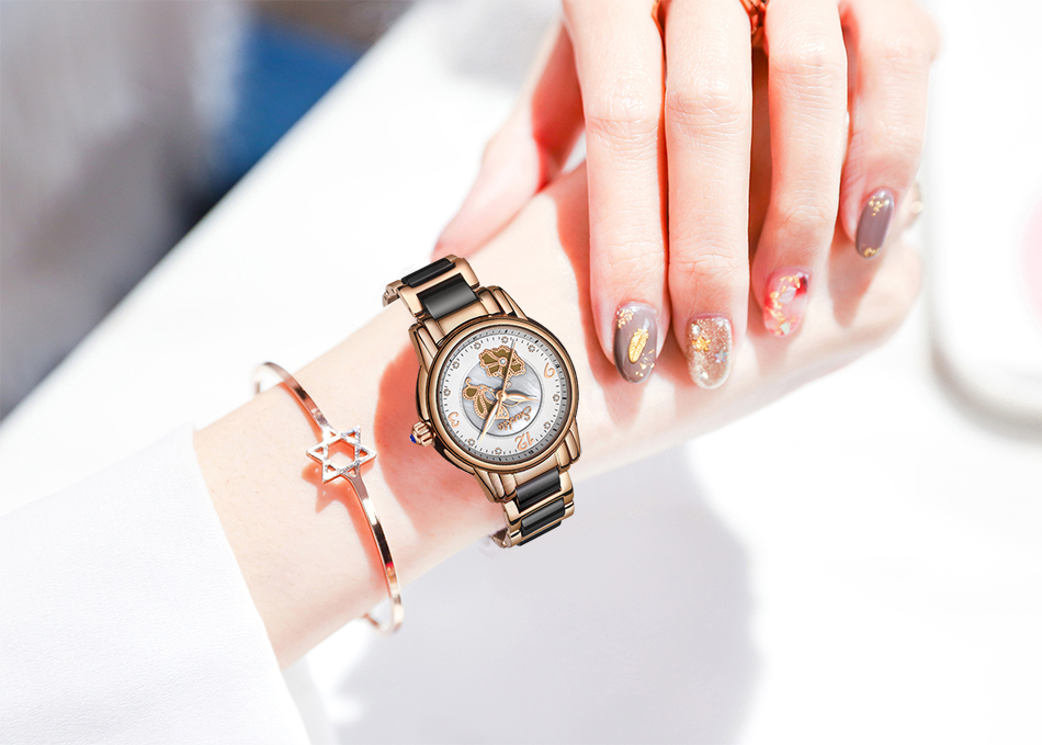 feminino de luxo menina relógio feminino relogio feminino + caixa