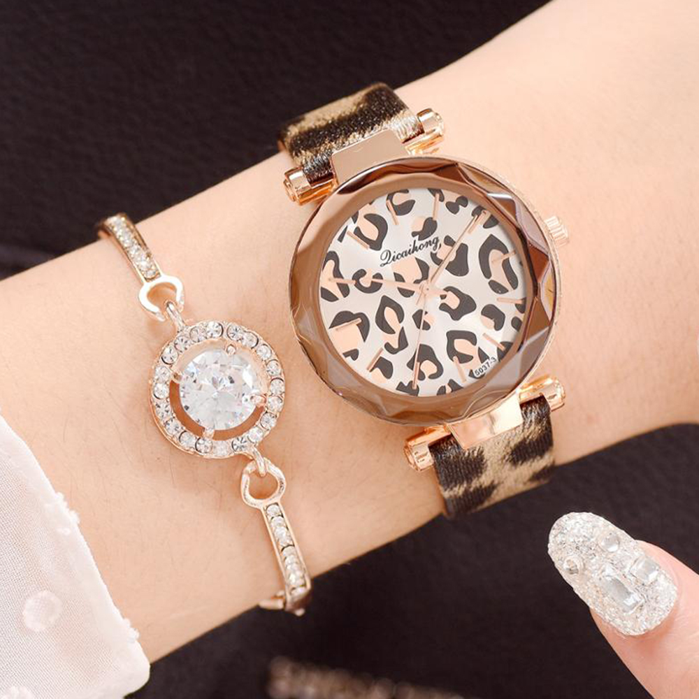 Montre Femme New Fashion Women Watches Leopard Print Leather Analog Quartz Watch Ladies Wrist Watch Reloj Mujer Zegarek Damski