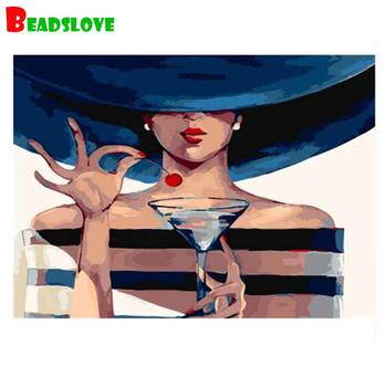 Farba według numeru 5D haft diamentowy tajemnicza kobieta majsterkowanie malowanie diamentowa ścieg w pełni z okrągłych wiertarek mozaika do dekoracji domu tanie i dobre opinie beadslove Obrazy CN (pochodzenie) Kolorowe pudełko Oddzielne Żywica Pełna Tak ( 50 sztuk) Portret Zwinięte 30-45 Plac