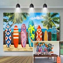 קיץ טרופי לגלוש רקע חול חוף גלשן רקע לצילום הוואי מסיבת יום הולדת דקור אירוע באנר