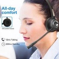 Auriculares inalámbricos BH520 con Bluetooth y micrófono, dispositivo de audio con cancelación de ruido para ordenador, teléfono y Escritorio
