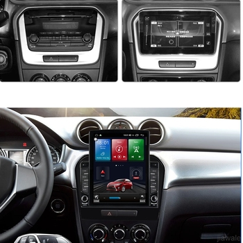 9.7 octa-core tesla style vertical screen Android 10 Car GPS radio Navigation for Suzuki Vitara 2016 with 4G/Wifi DSP carplay image