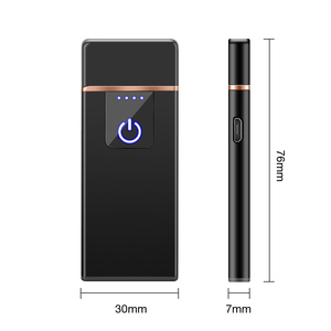 Image 4 - Fingerprint Induction Electric Lighter USB Charging Windproof Creative Personality Male USB Electronic Cigarette Lighter