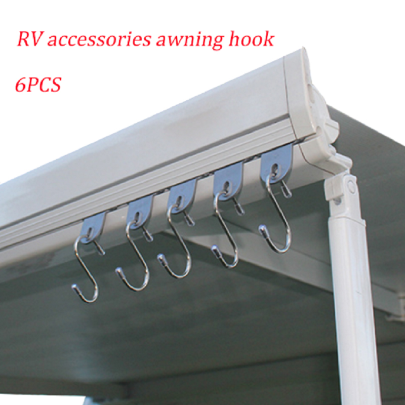 6pcs RV Accessories Awning Outdoor Hook Camper Clothes Hook Awning Clothes Shoes Hat Hooks