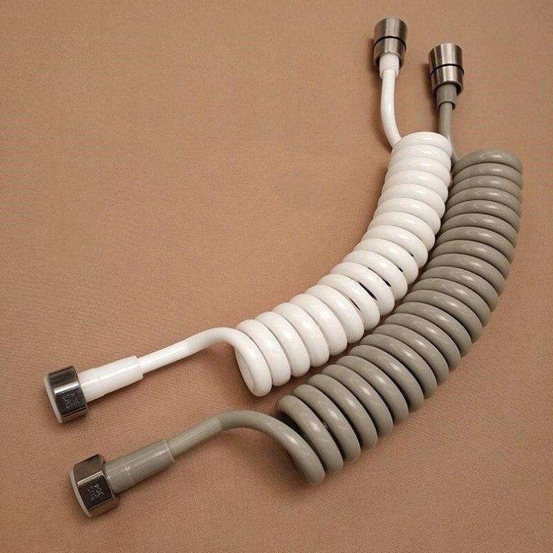 1.5m/2m/3m linha de telefone mangueira chuveiro do banheiro do plutônio primavera flexível para encanamento água wc bidé pulverizador acessórios do banheiro