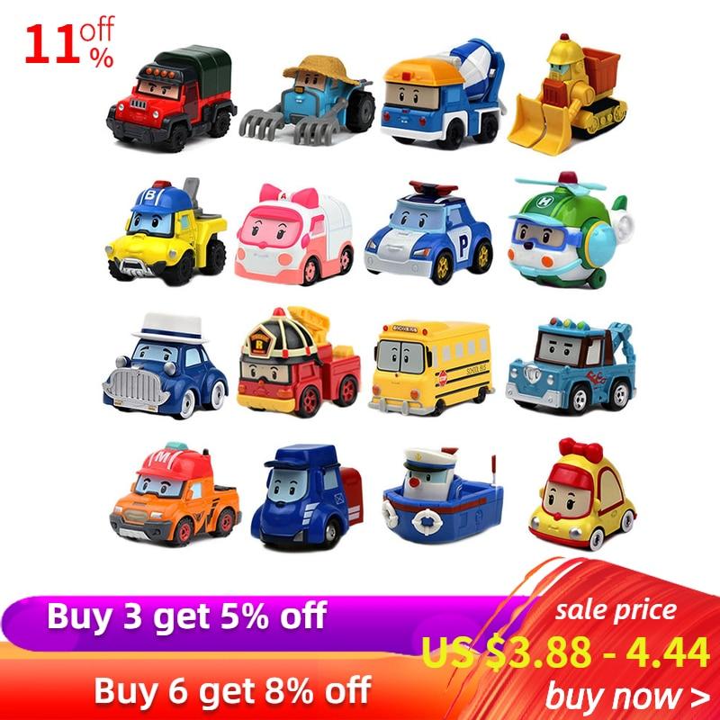 Buy 3 Get 5% Robocar Poli Action Figures Kids Toys Robot Poli Roy Haley Anime Metal Action Figure Toy Car For Kids Birthday Gift