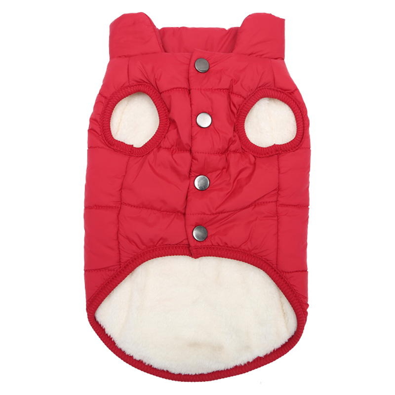 Fleece Dog Jacket in Button Closure Design For Small/Medium/Large Dogs 3