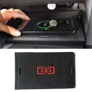 10 Вт автомобильное QI Беспроводное зарядное устройство для телефона, зарядная пластина, мобильное зарядное устройство, аксессуары для Toyota ...