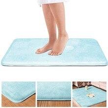 Memoria alfombra de baño antideslizante alfombra de baño fuerte absorbente lavable a máquina alfombra de ducha alfombra de puerta franela felpa Vintage almohadilla hogar