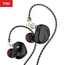 Trn vx 6ba + 1dd hybird no ouvido fone de alta fidelidade monitor correndo esporte fone de ouvido 2pin 0.75mm conector trn v90 bt20s fone de ouvido
