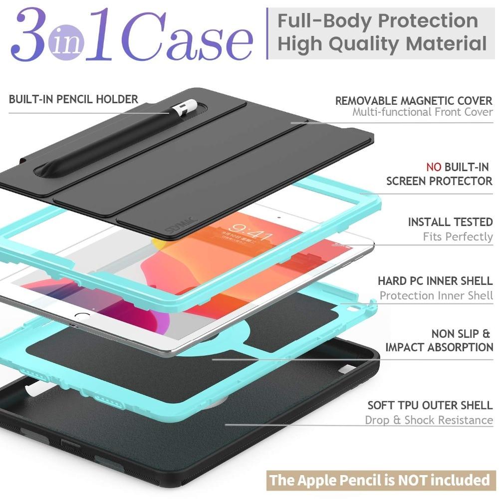 Generation with For Duty 7th Case Auto Flip Case Protective Wake/Sleep iPad Heavy Rugged