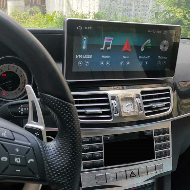 10.25 Inch Android 8.1 2G + 32G Car GPS Navigation <font><b>Multimedia</b></font> Player Bluetooth WiFi Display for <font><b>Mercedes</b></font> Benz E Class <font><b>W212</b></font> 2009- image