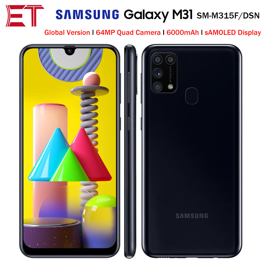 Samsung Galaxy M31 M315F/DSN cep telefonu 6GB 128GB octa çekirdek 6.4