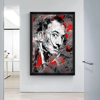 Portrait Art Salvador Dali Oil Painting Canvas Painting Posters and Print Wall Art Picture for Living Room Home Decor (No Frame) 1