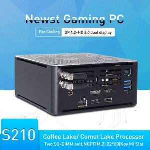 9th gen intel core desktop computador de jogos i9 9880h i9 8950hk tipo c dp hd 2 * ddr4 nvme linux mini pc wifi + bt caixa de tv windows10
