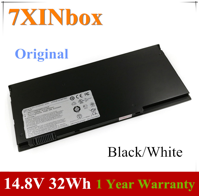 7XINbox 14.8V 32wh Original BTY-S31 Laptop Battery For MSI 13
