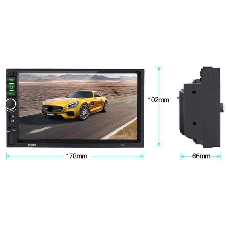Android 8,1 Car Stereo GPS Navi MP5 jugador doble 2Din WiFi 7 pulgadas Quad Core BT con 4LED Cam