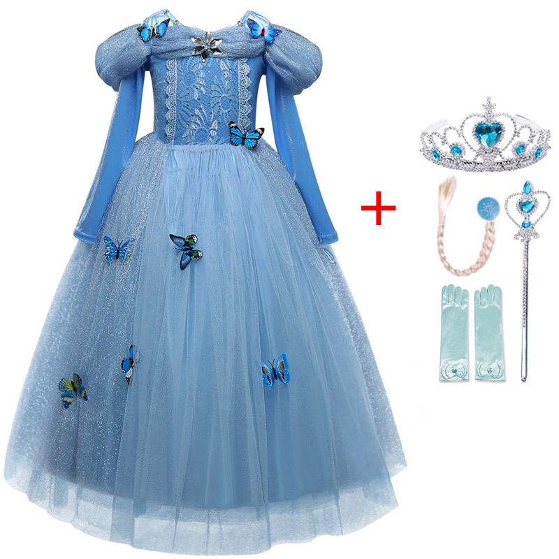 Autumn Winter Elsa Dress Girls Clothes Halloween Party Dress up Chidlren Clothing Christmas Kids Dresses for Girls Size 4-10Yrs 3