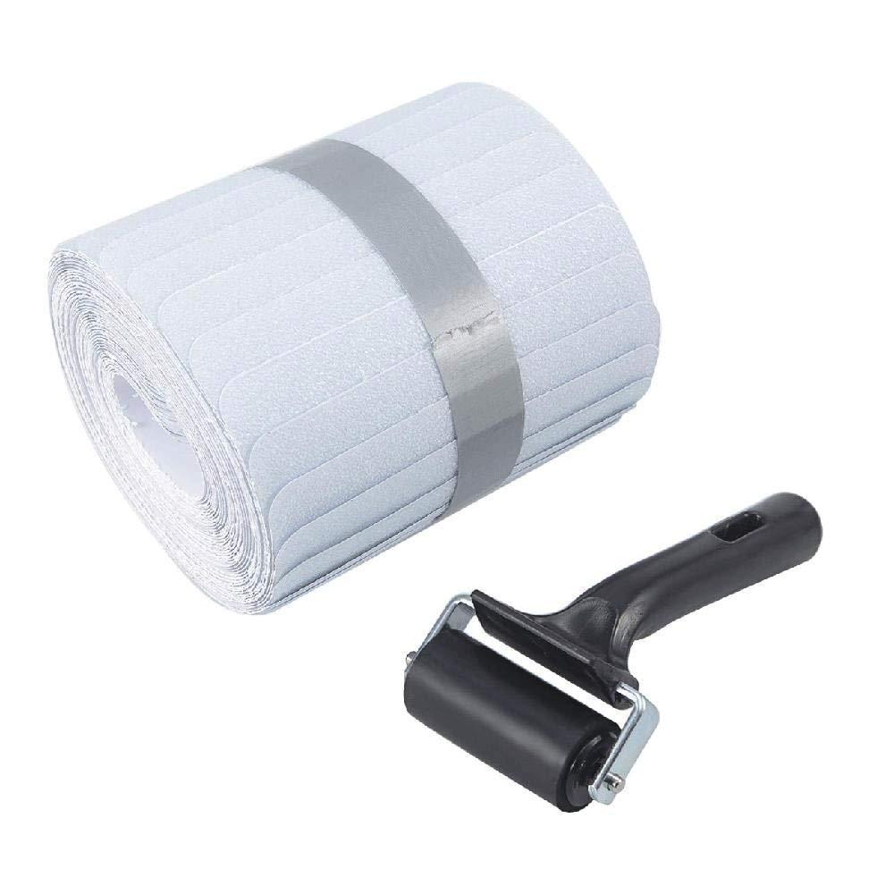 MINIFUN 6 ''x 32'' peldaños antideslizantes cinta transparente antideslizante tiras de suelo con rodillo para niños mascotas seguridad Paquete de 15 - 3