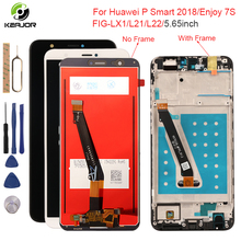 Display For Huawei P Smart 2018 LCD Display Touch Screen With Frame Digitizer Assembly Screen For Huawei P Smart Display Tested 6 21original display for huawei p smart 2019 lcd display screen touch digitizer assembly p smart 2019 display repair parts tool