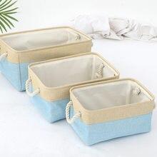 Roupa doméstica suja cesta de lavanderia crianças brinquedo armazenamento cestas desktop artigos diversos roupa interior livros armazenamento organizador caixa com alça