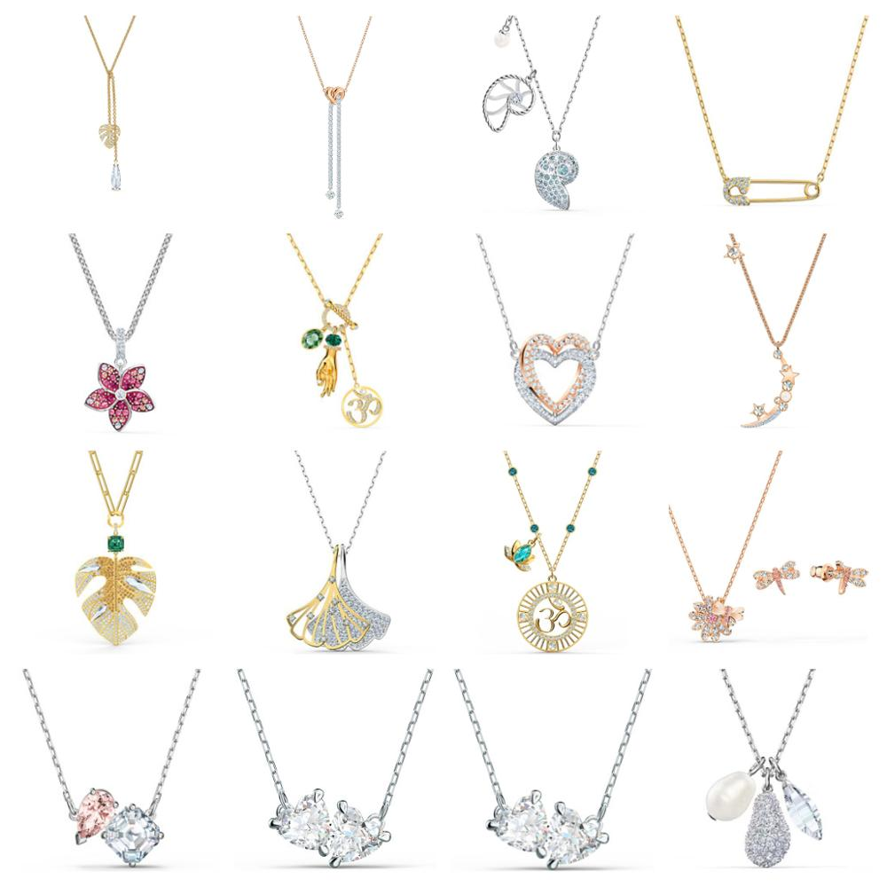 High Quality Original SWA Necklace With Original Engraved Woman Fashion Jewelry Gift Party Party Jewelry Free Shipping
