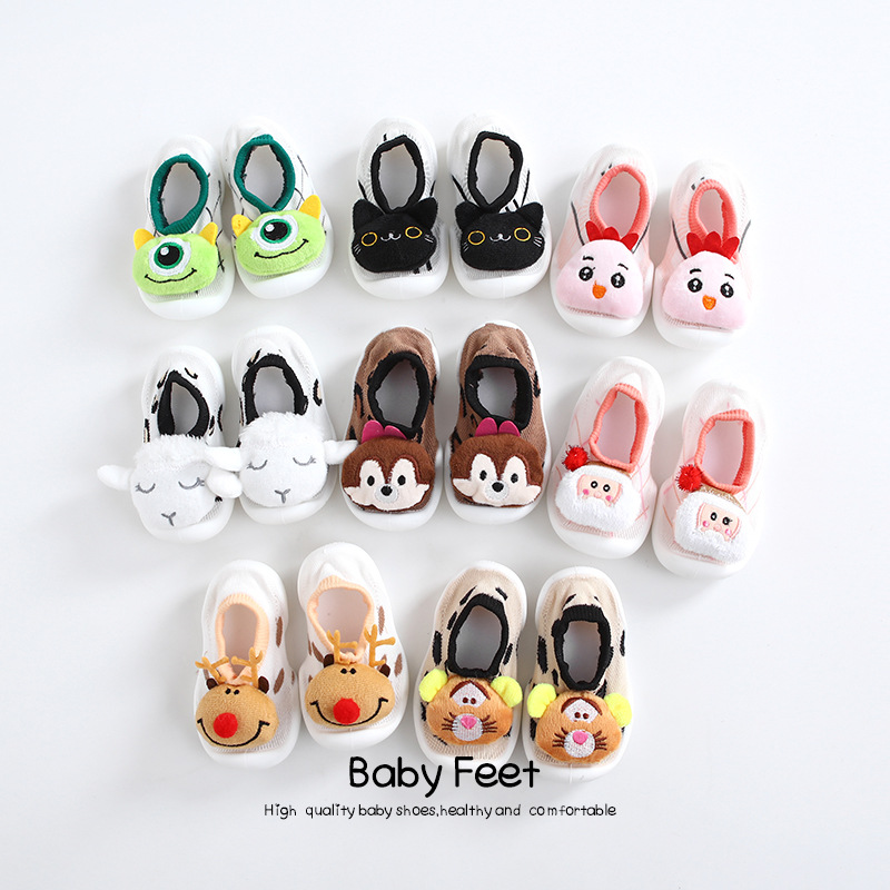 Baby Floor Shoes Spring New Arrival Baby Girl Baby Boy Sock Shoes Cute Animal Style  Baby Moccasins