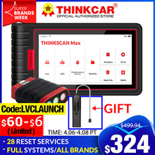 ThinkCar ThinkScan Max OBDII OBD 2 Car Diagnostic Tools OBD2 auto scanner Full system 28 Resets Function ECU Coding PK CRP909E